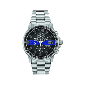 Citizen Men's Thin Blue Line Watch Chronograph 200M WR Eco Drive