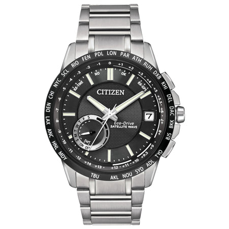 Eco Drive Satelite Wave world time GPS