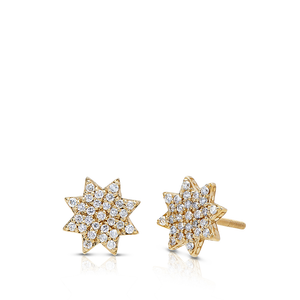 Diamond Starlight Earrings in 14K Yellow Gold