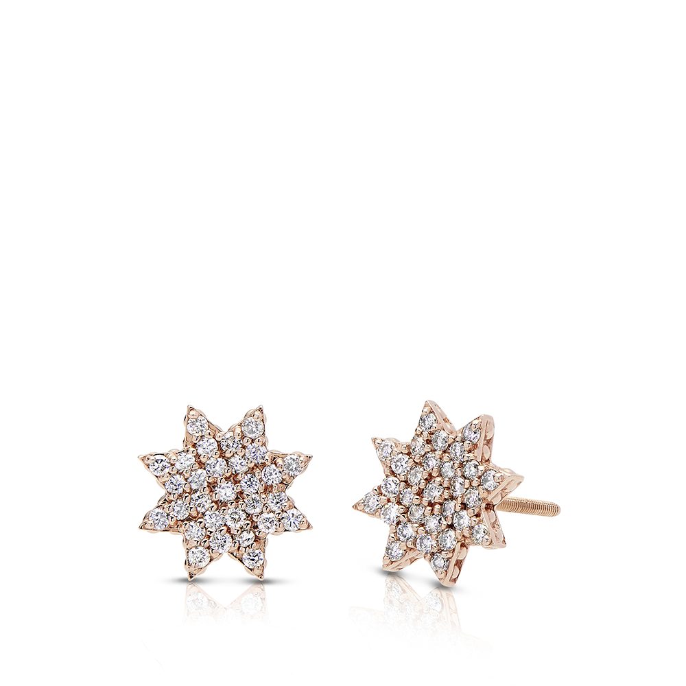 Diamond Starlight Earrings in 14K Rose Gold