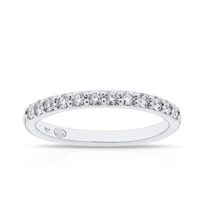Diamond Pave Stackable Ring in 14K White Gold