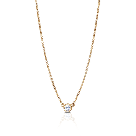 Diamond Dew Drop Pendant Necklace in 14K Yellow Gold