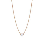 Diamond Dew Drop Pendant Necklace in 14K Rose Gold