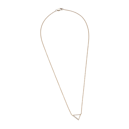 Diamond Geometric Necklace in 14K Yellow Gold