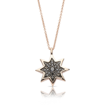 Black Diamond Starlight Pendant in 14K Rose Gold