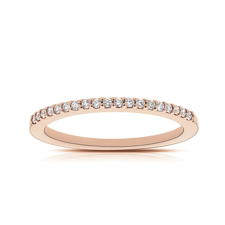 Diamond Stackable Ring in 14K Rose Gold