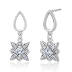 Etoile Diamond Dangle Stud Earrings in 14K Gold