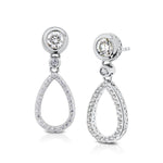 Classique Diamond Dangle Earrings in 14K Gold