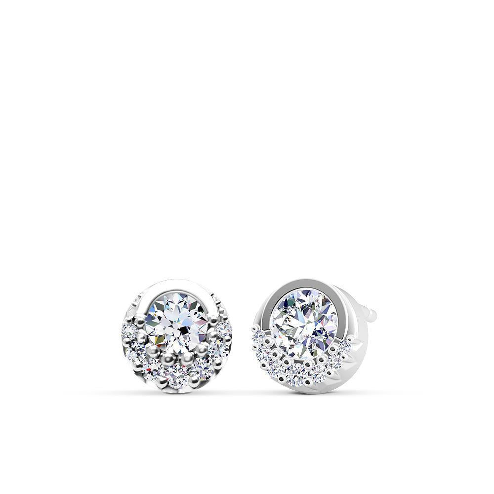 Inspiré Diamond Bezel Stud Earrings in 14K Gold