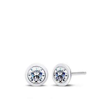 Bezel Stackers Diamond Earrings in 14K Gold