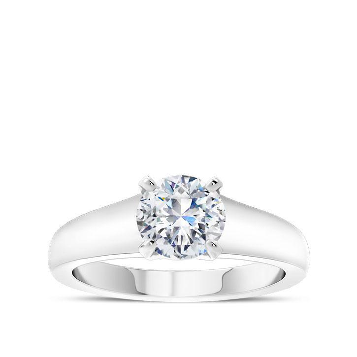 Round Center Stone Solitaire Engagement Ring