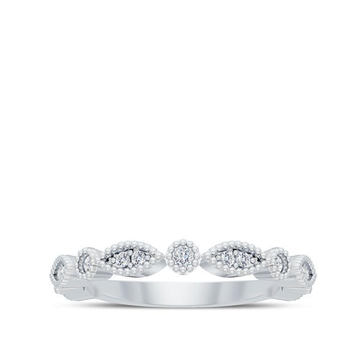 Filagree Diamond Wedding Band