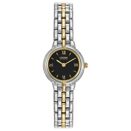 Ladies Black Dial Two Tone Corso