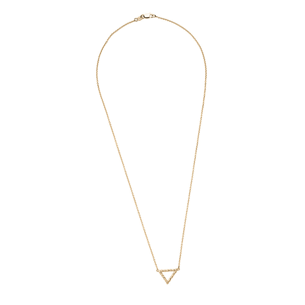 Twisted Geometic Pendant in 14K Yellow Gold