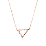 Twisted Geometic Pendant in 14K Rose Gold