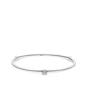 Diamond Cherish Bangle in Sterling Silver