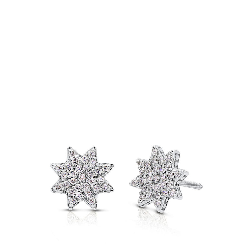 Diamond Starlight Earrings in Sterling Silver