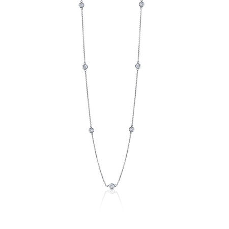 Diamond Dew Drop 7-Station Necklace in Sterling Silver