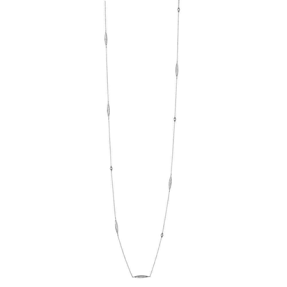 Pas de Trois Multi-Station Diamond Necklace in 14K Gold
