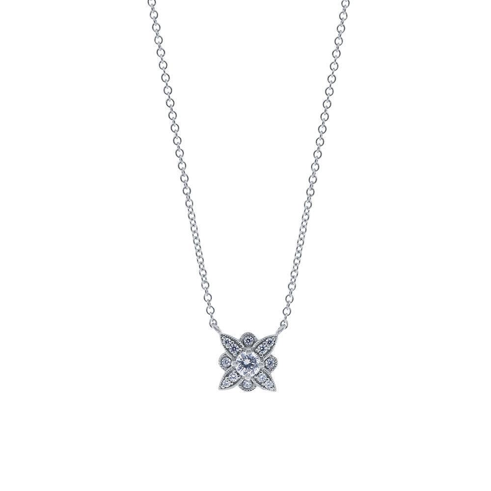 Etoile Diamond Pendant Necklace in 14K Gold