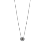 Splendeur Diamond Bezel Pendant in 14K Gold