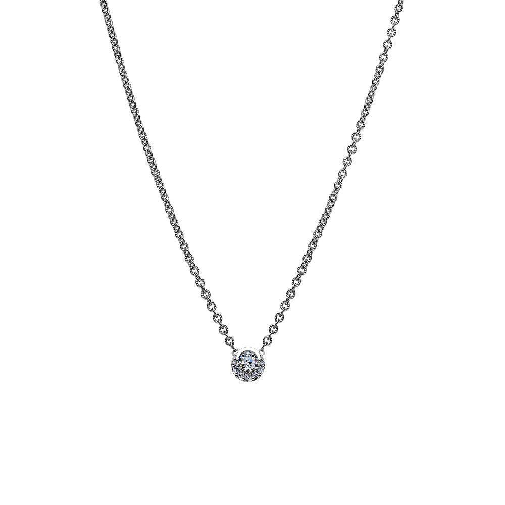 Inspiré Diamond Pendant Necklace in 14K Gold