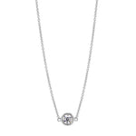Splendeur Diamond Bezel Pendant Necklace in 14K Gold