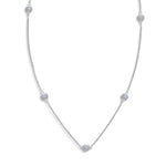 Inspiré Multi-Station Diamond Necklace in 14K Gold