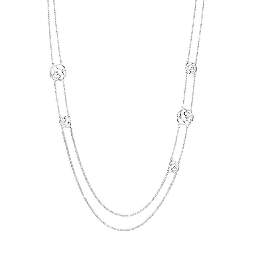 Peony Multi-Station Necklace in Sterling Silver