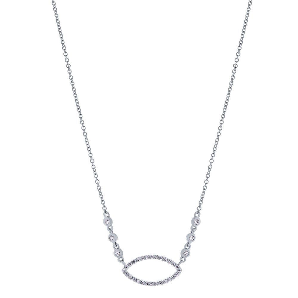 Pas de Trois Diamond Pendant Necklace in 14K Gold