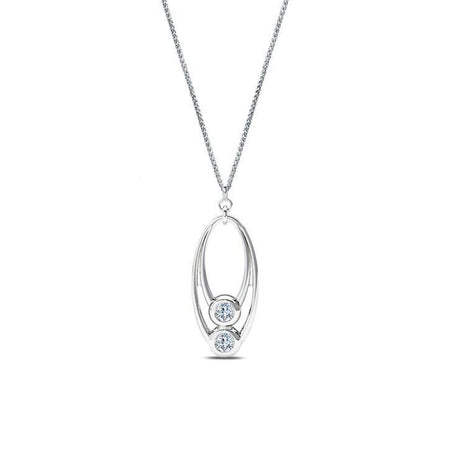 Bezel Stackers Diamond Diamond Pendant in 14K Gold