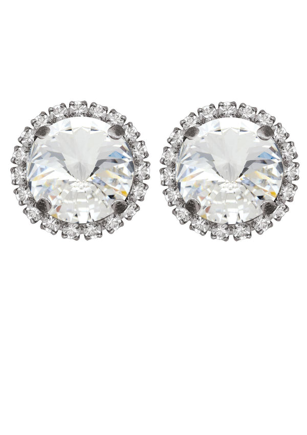 Crystal Rivoli Studs With Strass Rebekah Price jewelry