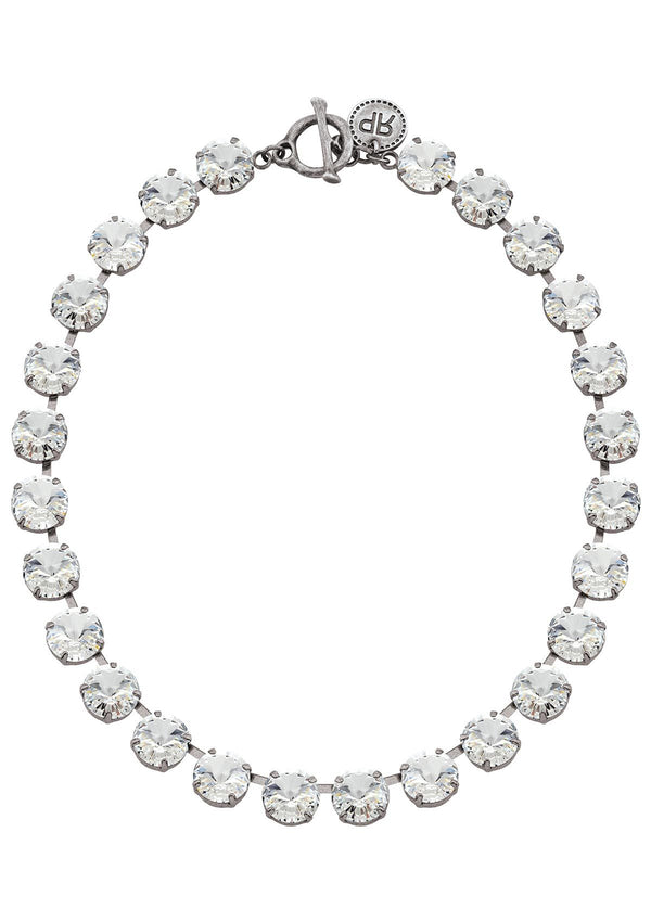 Crystal Rivoli Necklace silver swarovski crystals rebekah price jewellery