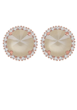 Ivory Cream Studs with Strass
