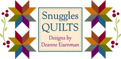 Snuggles Quilts is a quilt pattern design company that sells scrappy, fun quilt patterns for all levels of quilters.