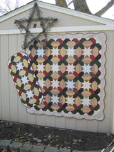 Load image into Gallery viewer, scrappy lap quilt and table runner pattern fat quarter friendly