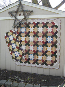 scrappy lap quilt and table runner pattern fat quarter friendly