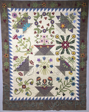 Load image into Gallery viewer, Snuggles Quilts Block of the month for 2017 wool applique blocks and embroidery