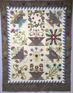 Snuggles Quilts Block of the month for 2017 wool applique blocks and embroidery