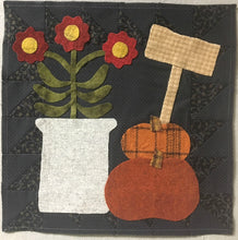Load image into Gallery viewer, wool applique wall hanging block of the month quilt pattern
