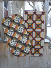 Load image into Gallery viewer, scrappy table runner quilt pattern fat quarter friendly