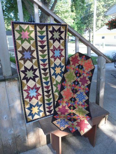 scrappy quilt pattern for table runners fat quarter friendly