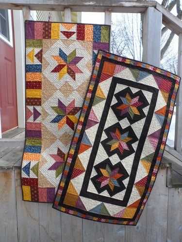 scrappy fat friendly pieced table runner quilt pattern