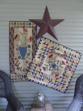 Load image into Gallery viewer, Scrappy applique wall hanging and table topper quilt pattern