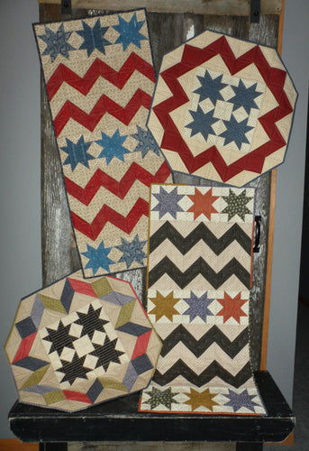 patriotic and scrappy table runner table topper quilt pattern