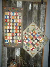 Load image into Gallery viewer, scrappy table runner and table topper quilt pattern with applique