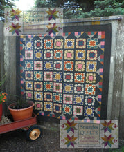 Load image into Gallery viewer, Scrappy lap quilt pattern for an all pieced lap quilt