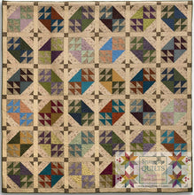 Load image into Gallery viewer, Open Windows Quilt Pattern scrappy, fat quarter friendly large lap quilt pattern