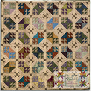 Open Windows Quilt Pattern scrappy, fat quarter friendly large lap quilt pattern