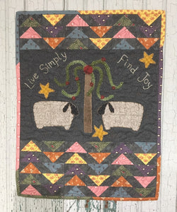 mini wool applique wall hanging